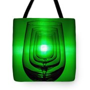 4 Wine Glasses Tote Bag