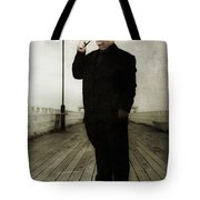 50s Detective Smoking Pipe Tote Bag