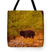 A Black Bear Tote Bag