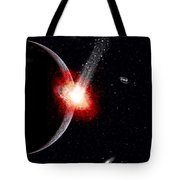 A Comet Hitting An Alien Planet Tote Bag
