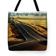 A Country Road In The Central Valley Tote Bag