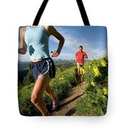 A Couple Trail Running Tote Bag