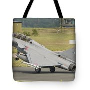 A French Air Force Rafale Jet Tote Bag