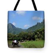 A Group Of Atv Quad Riders Take Tote Bag