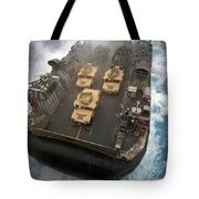 A Landing Craft Air Cushion Exits Tote Bag