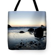 A Landscape Of Rocks On The Coast Tote Bag