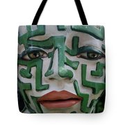 A Maze Ing Face 2 Tote Bag