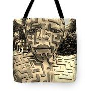 1 A Maze Ing Man Sepia Tote Bag