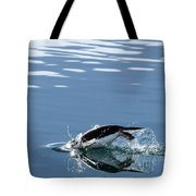 A Penguin Swims Through The Clear Tote Bag