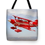 A Pitts Special S-2a Aerobatic Biplane Tote Bag