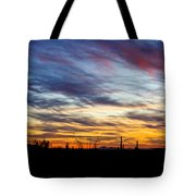 A Silhouette Sunset  Tote Bag