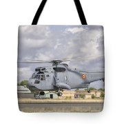 A Spanish Navy Sh-3d Helicopter Tote Bag