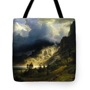 A Storm In The Rocky Mountains Tote Bag