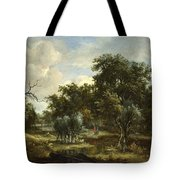 A Stream By A Wood Tote Bag
