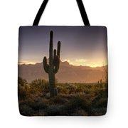 A Superstition Sunrise   Tote Bag