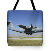 A Turkish Air Force A400m Landing Tote Bag