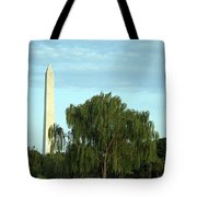 A Weeping Willow Washington Monument Tote Bag