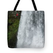 A Woman Trail Running Tote Bag