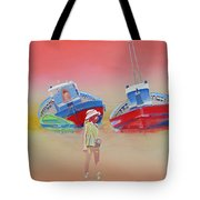 Abandoned Fishing Boats Tavira Tote Bag