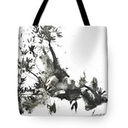 Abstract Ink Art Tote Bag