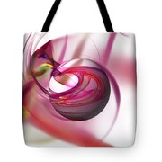Abstract Red Globe Tote Bag