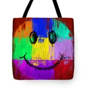 Abstract Smiley Face Tote Bag