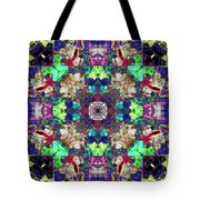 Abstract Symmetry Of Colors Tote Bag