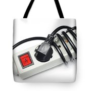 Ac Power Plug And Sockets Tote Bag