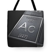 Actinium Chemical Element Tote Bag