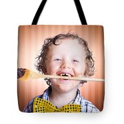 Adorable Little Boy Cooking Chocolate Easter Cake Tote Bag