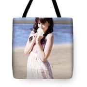 Adorable Seaside Girl Tote Bag