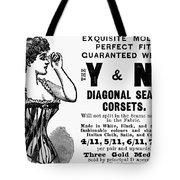 Advertisement Corset Tote Bag