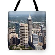 Aerial Of Downtown Indianapolis Indiana Tote Bag