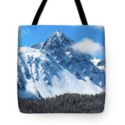 Aerial Of Mount Sneffels With Snow Tote Bag