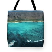 Aerial Of Ningaloo Reef And Cape Range Tote Bag