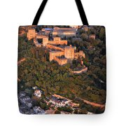 Aerial Photo  Alhambra And Albaycin In Granada Tote Bag