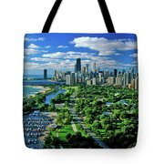 Aerial View Of Chicago, Illinois Tote Bag