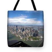 1-aerial View Of Manhattan Tote Bag