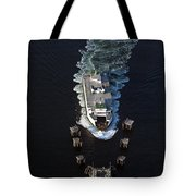 Aerial View Of Passenger Ferry Boat Going To Southworth Puget So Tote Bag