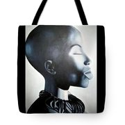 African Elegance - Original Artwork Tote Bag