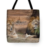 African Lion Couple Tote Bag