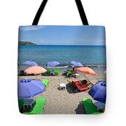 Agia Marina Beach Tote Bag