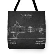 Airplane Patent Drawing From 1918 Tote Bag