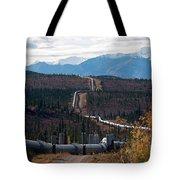 Alaska Oil Pipeline Tote Bag