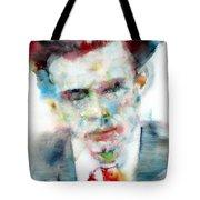 Aldous Huxley - Watercolor Portrait Tote Bag