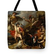 Alexander IIi Of Scotland Rescued From The Fury Of A Stag By The Intrepidity Of Colin Fitzgerald  Tote Bag