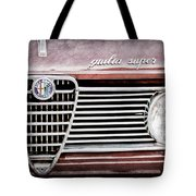 Alfa-romeo Guilia Super Grille Emblem Tote Bag