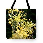 Allium Flavum Or Fireworks Allium Tote Bag