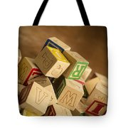 Alphabet Blocks Tote Bag