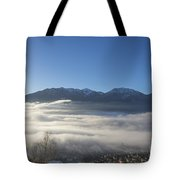 Alpine Village Under Sea Of Fog Tote Bag